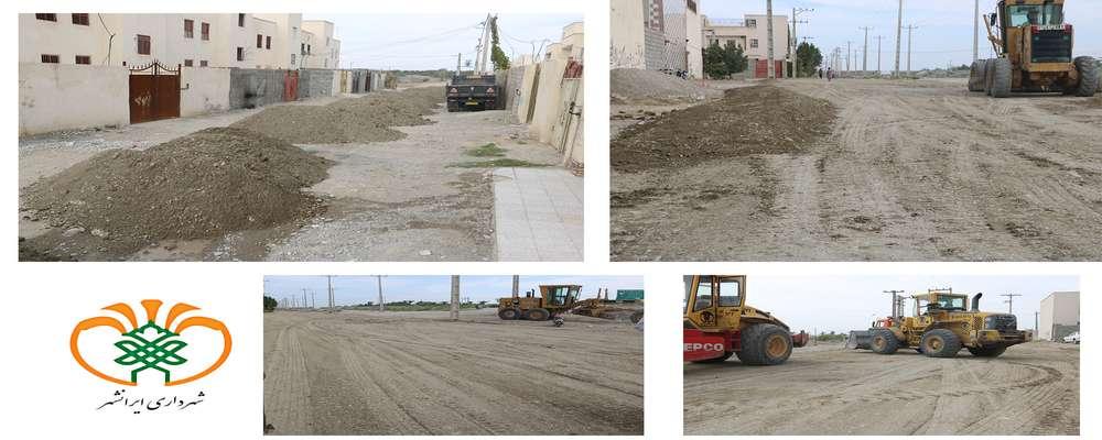 زیرسازی و تسطیح معابر محله مسکن مهر