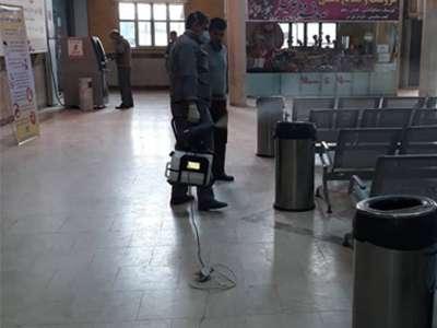 پایانه های مسافربری شهرداری قزوین روزانه ضدعفونی و شستشو می شود