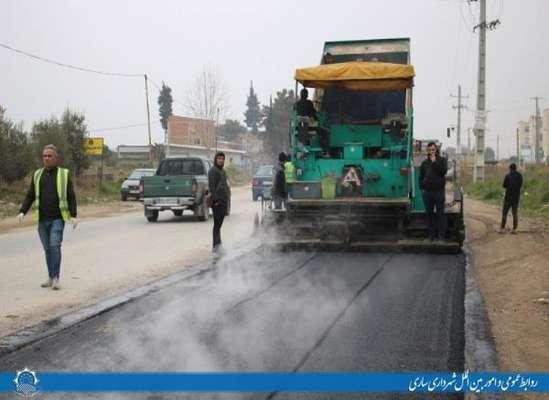 با هدف پاسخگویی به مطالبات شهروندان، بهسازی معابر در بلوار فرح آباد و جاده گلما اجرا شد