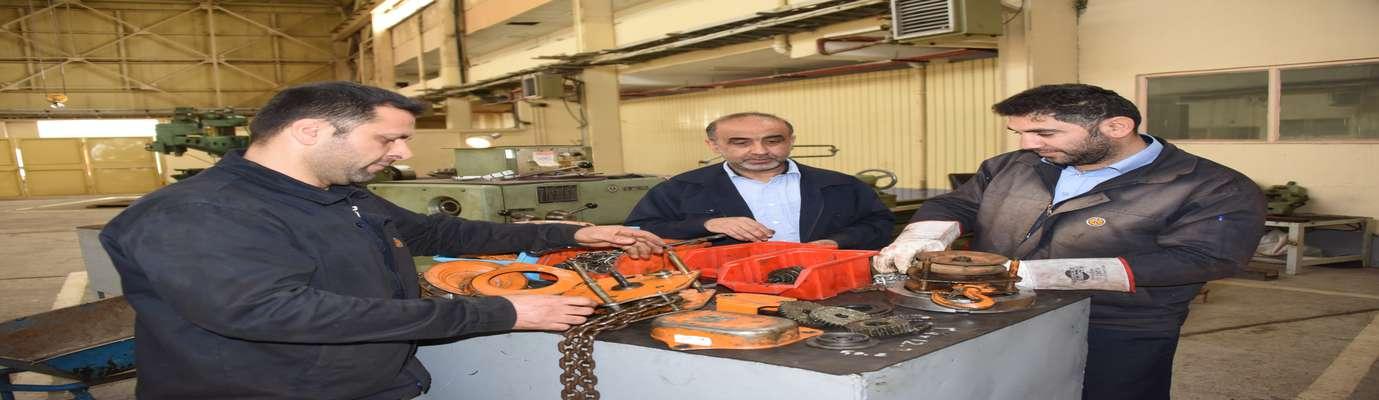 بازسازی و تعمیر ابزارهای تعمیراتی در نیروگاه شهید رجایی