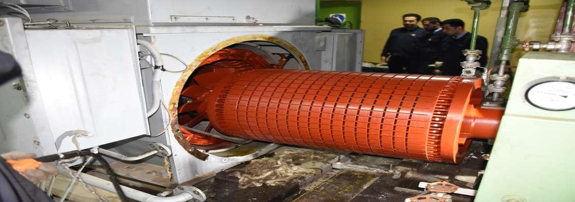 تعمیرات اساسی یک دستگاه الکتروموتور  6.6 کیلوولت در نیروگاه شهید رجایی