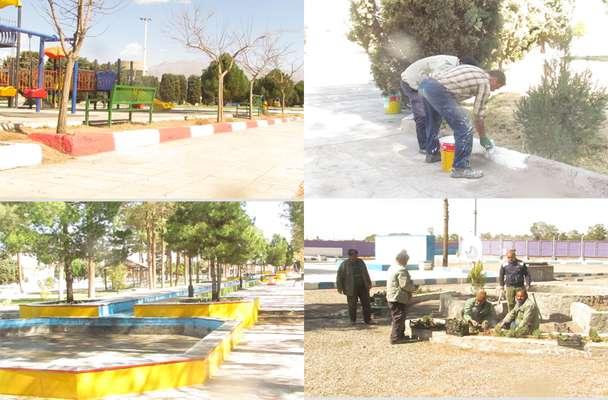 مهندس عبدالله زاده از آماده سازی بوستانهای شهر برای استقبال از مسافرین نوروزی خبر داد .