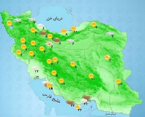 هواشناسی ایران ۹۸/۱۲/۹|آغاز بارش برف و باران ۴روزه از فردا