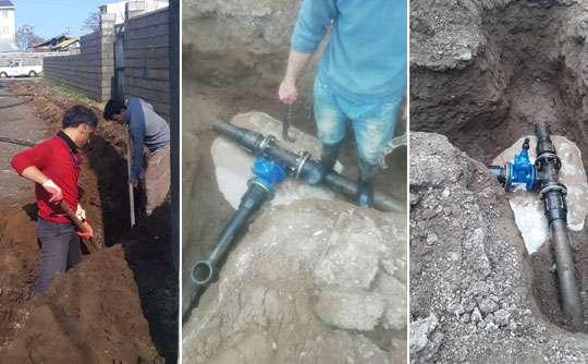 توسعه شبکه آب شرب بهداشتی دربندر انزلی
