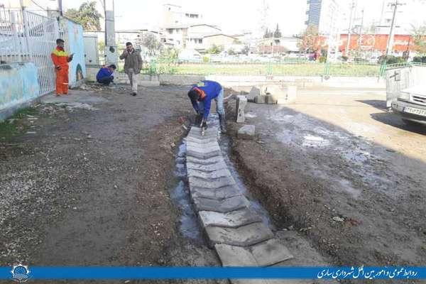 گامهای پرشتاب شهرداری ساری در راستای هدایت آبهای سطحی