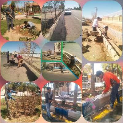 صدای پای بهار می آید :///مراحل آماده سازی شهر جهت استقبال از نوروز ۹۹