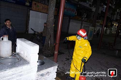 شهروندان در گند زدایی و پاکسازی شهر با آتش نشانان همکاری کنند/آتش نشانی رشت