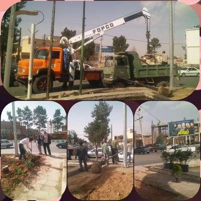 حذف المان های اضافی و ادامه ساماندهی میدان ۲۲ بهمن
