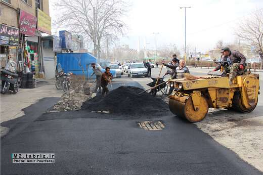 آغاز عملیات آسفالت ریزی پروژه باکس گذاری مسیر دروازه تهران