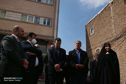 بازدید اعضای شورای شهر تبریز از پروژه مسیرگشایی ۲۴ متری محله علی بقال