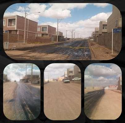 عملیات ریگلاژ نهائی و ام سی پاشی خیابان مهرانه در شهرك مسكن مهر  به انجام رسید .