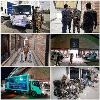 استقرار بیمارستان ۵۰ تختخوابی سیار نیروی زمینی ارتش در مجموعه خانه مهندس قم، با همکاری نظام مهندسی ساختمان استان