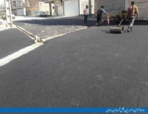 آسفالت خیابان شهید فهمیده انجام شد
