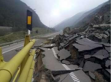 ریزش قطعه اول آزادراه تهران - شمال تکذیب شد