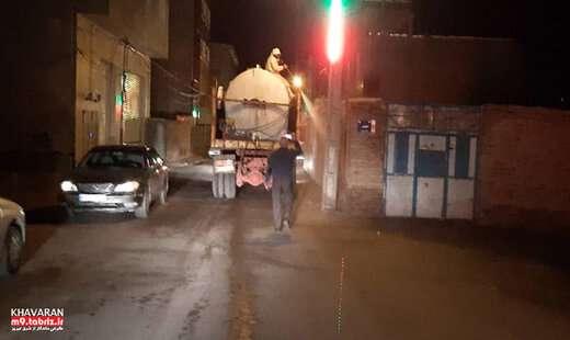 اجرای عملیات شبانه ضدعفونی محلات و اماکن عمومی در حوزه استحفاظی شهرداری منطقه ۹ تبریز