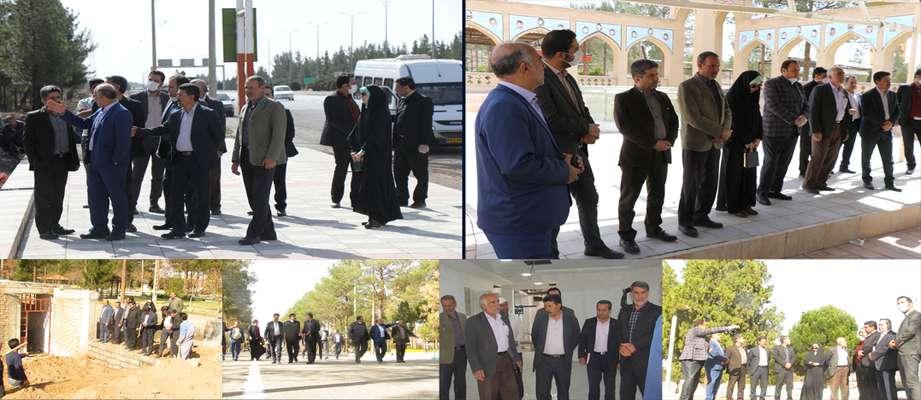 آخرین بازدید شهردار و اعضاء شورای شهر زرند از پروژه های عمرانی