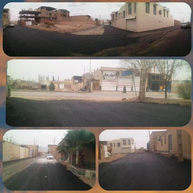 پایان عملیات آسفالت كوچه شهدای محمد آباد 4