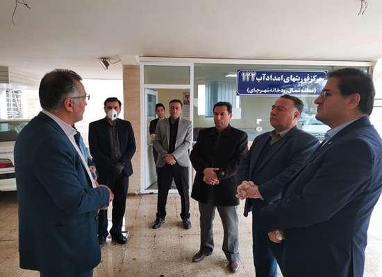بازدید مدیرعامل شرکت آب و فاضلاب آذربایجان غربی از مراکز فوریت های امدادی و مخازن ذخیره آب