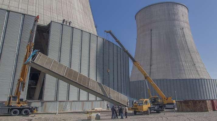 تعمیر دلتاهای برج خنک کن اصلی نیروگاه حرارتی شازند