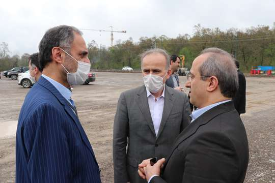 بازدید نماینده تام الاختیار وزیر بهداشت در استان گیلان از مراحل آبرسانی به بیمارستان صحرایی