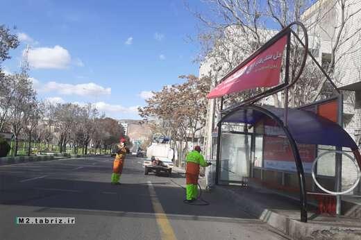ضدعفونی ۳ مسیر سطح حوزه شهرداری منطقه ۲
