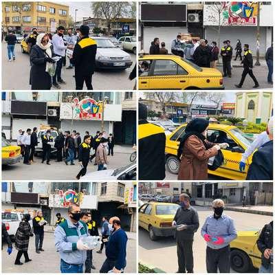 توزیع ۵۰۰۰ ماسک و محلول ضدعفونی در ناوگان حمل و نقل درون شهری ساری