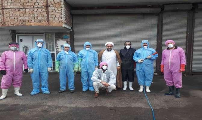 مشارکت اداره حفاظت محیط زیست مراغه با جهادگران در مبارزه با کرونا