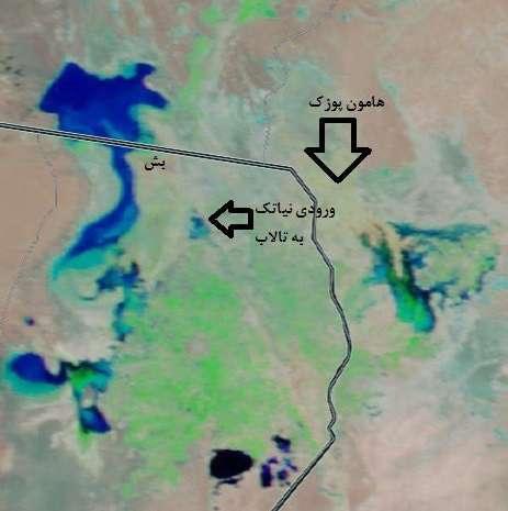 آخرین وضعیت تالاب بین المللی هامون در ۱۲فروردین ۱۳۹۹ به روایت تصاویر ماهواره ای