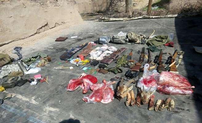 دستگیری باند حرفه ای شکار غیرمجاز در منطقه حفاظت شده آق داغ خلخال