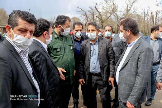 طرح گسترده ضدعفونی معابر و محلات منطقه قراملک تبریز آغاز شد
