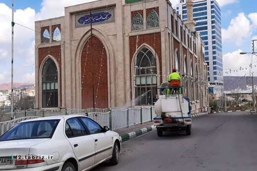 تلاش بی وقفه شهرداری منطقه ۲ تبریز برای مقابله با شیوع ویروس کرونا
