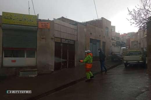 محلات تابع ائل گلی تبریز ضدعفونی شد