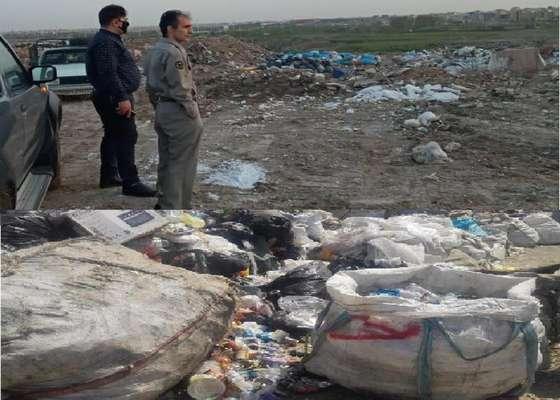 جمع آوری و تعطیلی پنج واحد غیرمجاز تفکیک پسماند در غرب استان تهران