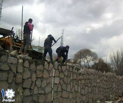 آغاز فاز دوم عملیات اجرای دیوار سنگی حدفاصل پل جواهر تا ایستگاه مترو استاد شهریار