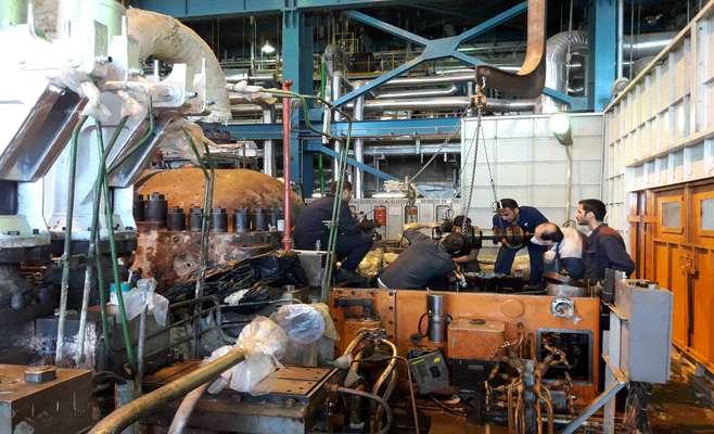 مونتاژ توربین HIP در تعمیرات اساسی واحد شماره 2 نیروگاه حرارتی شازند
