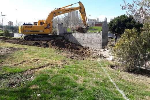 عملیات خاکبرداری رمپ شمالی پروژه پل همسان پل کابلی آغاز شد