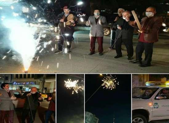 کاروان شادباش شهرداری ساری از محله های شهر ساری گذر کرد+ویدئو