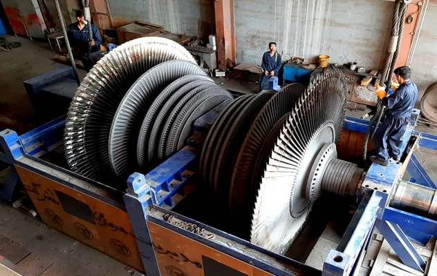 تعمیر روتور L.P. واحد سه بخار نیروگاه بندرعباس
