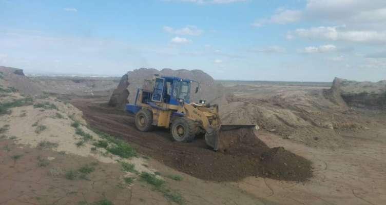 تخریب بندهای خاکی غیرمجاز در تربت جام