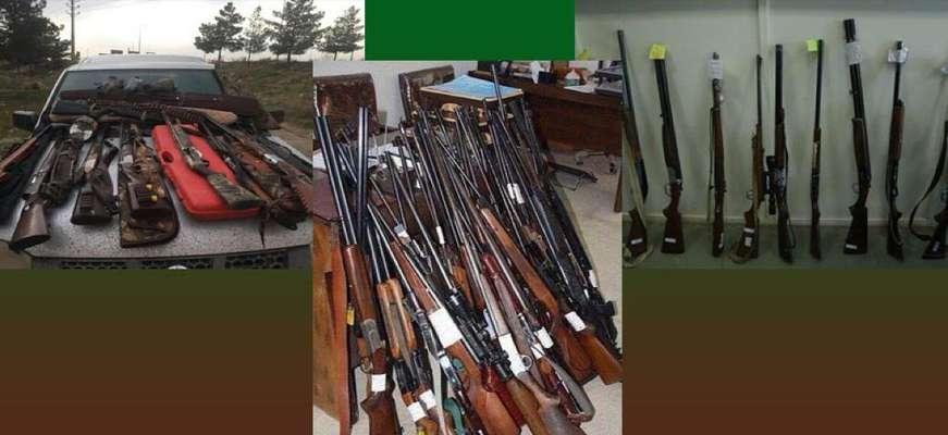 کشف و ضبط بیش از دویست اسلحه شکاری در سال ۹۸ در استان تهران/ کشف جرایم شروع به شکار رشد سه برابری داشت
