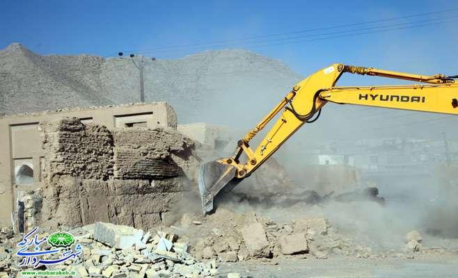 گزارش تصویری / تملک و آزادسازی یک باب ساختمان به مساحت 500 مترمربع در طرح تعریض خیابان سروش  محله دهنو