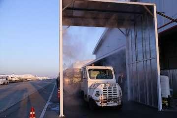 بهره برداری از دستگاه مکانیزه ضدعفونی کننده بارهوایی در فرودگاه امام خمینی (ره)