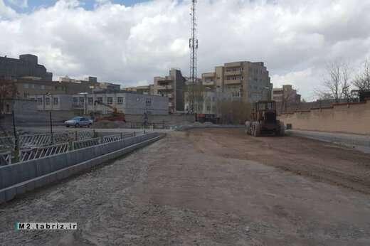 تداوم عملیات زیرسازی پروژه بازگشائی خیابان شهید صادقی