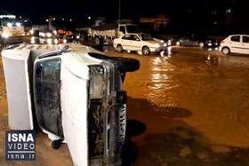 ویدئو / آخرین وضعیت جاده قم – اراک، بعد از سیلاب دیروز