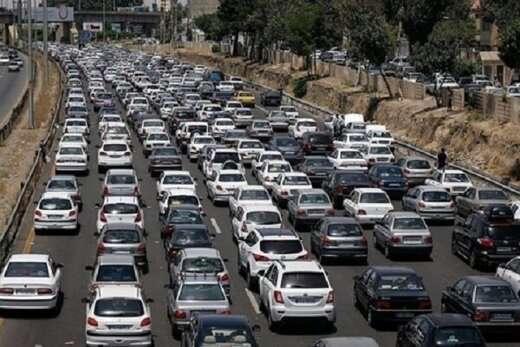 تردد در جادههای کشور ۳.۳ درصد افزایش یافت