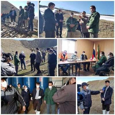 بازدید معاون دادگستری کل آذربایجانشرقی از معدن طلای اندریان