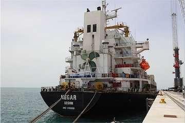 ورود اولین کشتی از محموله ۷۵ هزار تن گندم اهدایی هند به افغانستان به چابهار