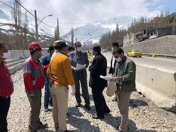بازدید وزیر راه و شهرسازی از پروژه های در دست اجرای محور هراز