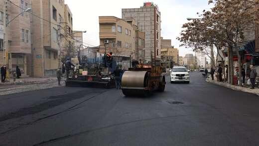 خیابان اشرفی با ۵هزار متر مربع وسعت آسفالت ریزی اساسی شد