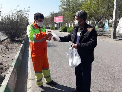 تامین سلامت تلاشگران خط مقدم تنظیف